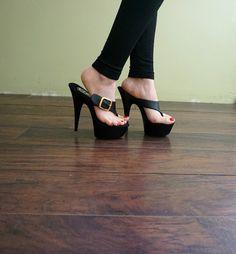 VIP 6 pulgadas zapatos hechos a mano negro grande por IdealHeels