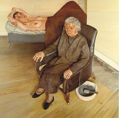 Large Interior by Lucian Freud