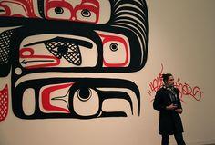 Graffiti Mural by Corey Bulpitt (Haida) and Larissa Healey (Ojibway), at Beat Nation, Vancouver Art Gallery