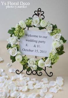 ウェルカムリース - Google 検索 Welcome To Our Wedding, Wedding Wreaths, Design Reference, Place Card Holders, Paper, Frame, Floral, Flowers, Handmade
