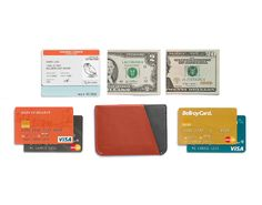 This sleeve makes easy work of storing and accessing your bills. A pinch opens the central pocket – ideal for folded bills – it's a breeze to slide cash in and out. External slots fit up to 4 cards, quick to reach when you need them the most, and the central pocket can hold a couple more. Super slim, the Micro Sleeve smooths away pocket lines, for a tailored fit.
