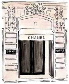 Chanel sketch, shop front
