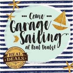 "Who loves a garage sale?!?! WE DO!!!  Come Garage Sailing at Real Deals! Boatloads of home décor, furniture and fashion discounted up to 90%!🐳☀️ You don't want to miss this!!! Join us for our first annual Garage ""Sail"" June 23rd-25th!*  100 Livingstone Street Yorkton, SK Thursday 10-6, Friday 10-5 & Saturday 10-3  *The sale will be held outdoors, weather permitting. Access to the store will be through West side entrance for this event only. Garage sale deals will also be found throughout…"