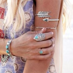 <<< yes >>> @donbiu  The more jewels, the better! Layer them on baby!  @DONBIU I'm obsessed with this arrow cuff! It's something else... ✨✨