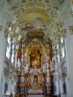 Weis Church, Bavaria, Germany. One of the most beautiful churches I've ever seen.
