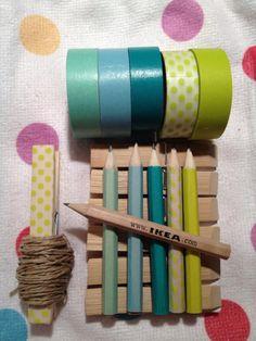 Lapices con washi tape!