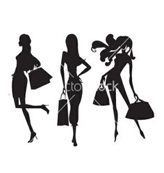 Fashion shopping girls vector 1199767 - by chris11 on VectorStock®