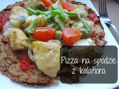 Pizza na redukcji? Jasne :) wystarczy zrobić ją na spodzie z kalafiora a na wierzch chudy kurczak, warzywa i kilka gramów startego odtłus...