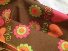 Scandi 60s vintage fabric with fantastic pattern. Scandinavian design, made in Sweden