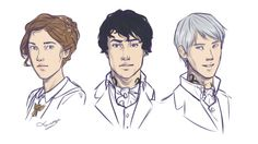 Tessa Gray, Will Herondale, and Jem Carstairs