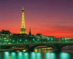 Paris Photos at Frommer's - The Eiffel Tower overlooking the River Seine.
