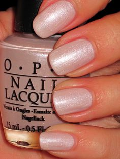 Subtle enough for work, cute enough to love: OPI Play the Peonies - 26/12