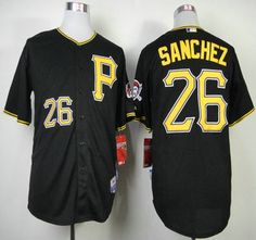 Pittsburgh Pirates Jersey #26 Tony Sanchez Black Jerseys