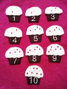 Cupcake puzzle number game Number Activities, Counting Activities, Number Games, Book Activities, Preschool Activities, Numbers Preschool, Preschool Classroom, Learning Numbers, Kindergarten Math