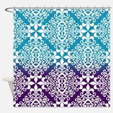 964cab248a883161665cf046cfefbf57 Damasks Purple Shower Curtains