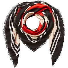 Marc Jacobs Printed Scarf (2.605 ARS) ❤ liked on Polyvore featuring accessories, scarves, multicolor, colorful shawl, fringe scarves, multi colored scarves, marc jacobs and marc jacobs scarves