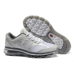 Nice Nike Air Max 2012 Gray White Women Running Shoes For  US$52.99  Go To:  http://www.cheapnikeairmaxshoesshop.com/