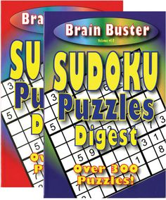 brain teasing sudoku puzzle book digest size Case of 48