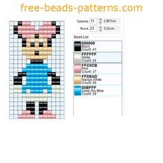Disney Minnie Mickey Mouse character perler beads free pattern pony beads fuse beads Source by Pony Bead Patterns, Hama Beads Patterns, Beaded Jewelry Patterns, Beading Patterns, Beaded Braclets, Bead Loom Bracelets, Fuse Beads, Perler Beads, Beaded Lanyards