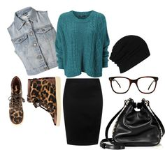 """""""High waisted skirt and sneakers"""" by mstinso5 on Polyvore"""