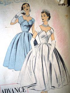 Vintage 1950s Advance Import Petal Party Dress by FoxVintageUk
