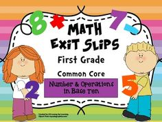 This pack includes a total of 50 exit slips for the first grade Common Core State Standards for Number and Operations in Base Ten.  Use these quick, formative assessments to identify what students have mastered and where they may need additional support.