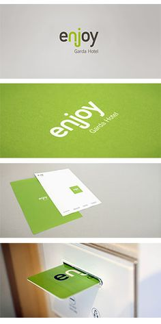 Enjoy Garda Hotel - marchio, immagine coordinata e linea cortesia /  Enjoy Garda Hotel on Behance
