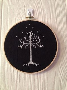 Tree of Gondor Lord of the Rings-finished by CrossStitchedSass