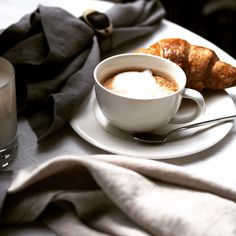 Breakfast in Paris. Balmuir linen available at www.balmuir.com/shop