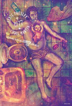 fab ciraolo Elvis Presley - Ilustración campaña 91 ROCK / JWT - BRASIL