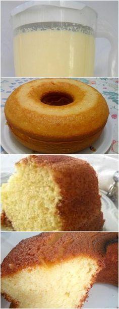 BOLO DE LIQUIDIFICADOR,SIMPLES BOA OPÇÃO PARA SEU CAFEZINHO DA MANHÃ!! VEJA AQUI>>>Bata no liquidificador os ovos, o açúcar e a margarina Depois acrescente a farinha, o leite e o fermento em pó, bata novamente #receita#bolo#torta#doce#sobremesa#aniversario#pudim#mousse#pave#Cheesecake#chocolate#confeitaria