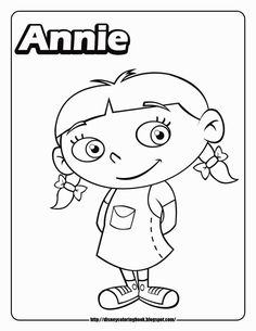 Little Einsteins Coloring Pages Annie Cartoons