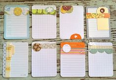 Handmade Project life journaling cards...loads of ideas