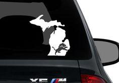 Michigan Detroit Lions Footbal Custom State Map Wall Sticker Vinyl Wall Decal