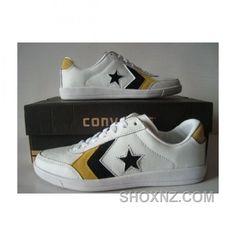 Converse Pro Star Ox Pu White Brown Shoes PNRK6