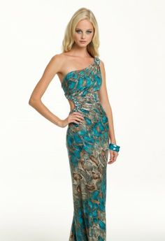 Prom Dresses 2013 - Long Snake Print Cut Out Dress from Camille La Vie and Group USA