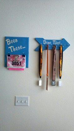 Running Bib Board and Medal Hanger!