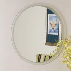 Decor Wonderland 23.6-in x 23.6-in Beveled Edge Mirror