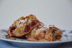 Cake de almendra y frambuesas