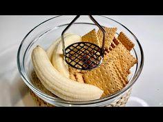 Doar 3 INGREDIENTE! Rețetă delicioasă în 5 minute! - YouTube Mousse Mascarpone, Bee Cookies, No Bake Desserts, Finger Foods, Nutella, Cookie Recipes, Sweet Treats, Sweets, Healthy Recipes