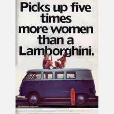 #VW #bus picks up 5 times more #women than a #Lamborghini #LetsGetWordy