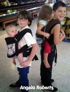 The Guggie Daily: Sibling Babywearing (Celebrating Siblings Photo Share)