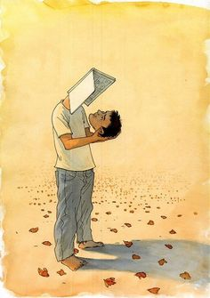 Self study ownself study face book That is what reading too much does to you :) Surreal Art, Meaningful Art, Art Drawings, Drawings, Deep Art, Reading Art, Illustration Art, Art, Book Art