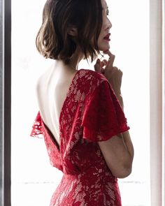 Glamming it up in lace & in red this Christmas Eve www.liketk.it/23nkY #liketkit by chrisellelim