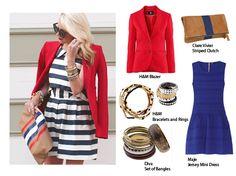 Stripes on Fire Clare Vivier, Maje, Diva, Loft, Stripes, Blazer, Dresses, Style, Fashion