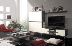 Ensemble meuble rangement mural Galio - Ivoire/Cendré prix promo La Maison de Valerie 424.15 € TTC au lieu de 499.00 €