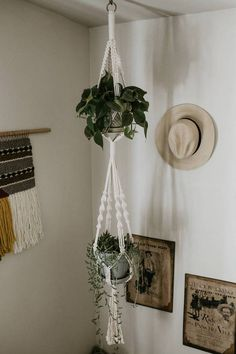 Double Macrame Plant Hanger #macrame #macrameplanter #planthanger #gardening