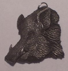 New Design.............Wild Boar .Pendent ....  by McCloud9Jewelry