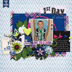 credits:  Smarty Pants by Bella Gypsy Designs  Smarty Pants Grades by Bella Gypsy Designs  and  Template FreeBee by Fiddle-Dee-Dee Designs  #digitalscrapbooking #scrapbooking #digiscrap