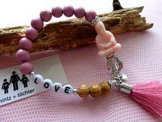 Buddha - Armband aus einem Perlen-Mix. Gibt's bei www.hintzundtoechter.de